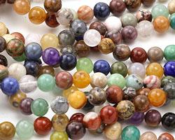 Earth Tones Gemstone Mix Round 6mm