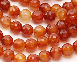 Carnelian (natural) Faceted Round 12mm