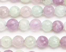 Multi Gemstone (Cape Amethyst & New Jade) Faceted Round 8mm