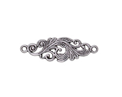 Antique Silver Finish Scrolling Vine Link 29x10mm