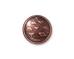 TierraCast Antique Copper (plated) Rock & Roll Snap Cap 18mm