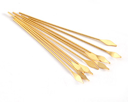 """Gold (plated) Arrow Paddle Headpin 2"""", 21 gauge"""