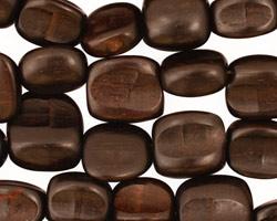 Ebony Wood Freeform Square 8-12mm