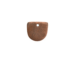 Nunn Design Antique Copper (plated) Flat Mini Half Oval Tag 13x14mm
