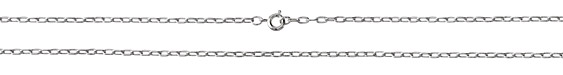 Imitation Rhodium (plated) Finished Drawn Cable Chain 18""