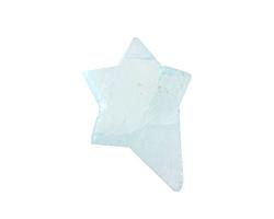 Sea Foam Recycled Glass Rough Cut Starburst Focal 25-30x31-36mm