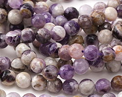 Dogtooth Amethyst Faceted Round 8mm