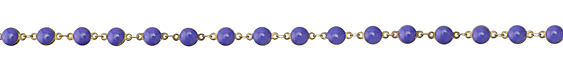 Zola Elements French Blue Coin Link Brass Chain