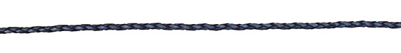 Natural Blue Braided Leather Bolo Cord 3mm
