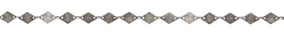 Antique Silver (plated) Diamond Chain