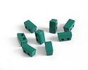 Emerald Enamel 2-Hole Tile Thin Rectangle Bead 4x8mm