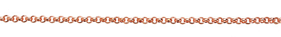 Copper (plated) Textured Rollo Chain