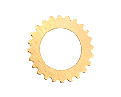 Brass Large Open Gear 25mm