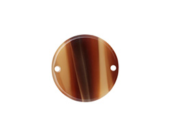Zola Elements Brown Sugar Acetate Coin Link 20mm