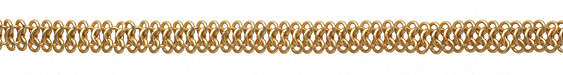 Satin Hamilton Gold (plated) Chain Maille Chain 7x11mm