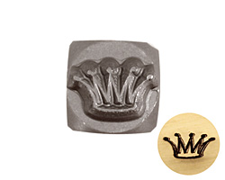 Crown Metal Stamp 6mm