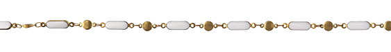 Zola Elements Marshmallow Oblong Bar & Disk Brass Chain