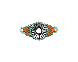 Citrus Grove Hand Woven Radiant Eye Focal 30x14mm