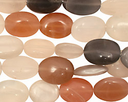 Moonstone (multi) Flat Oval 11-14x9-10mm