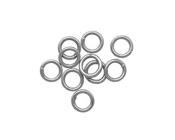 Antique Silver (plated) Soldered Jump Ring 6mm, 18 gauge