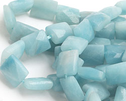 Amazonite Faceted Thin Pillow 10x8mm