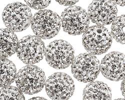 Crystal Pave (w/ Preciosa Crystals) Round 10mm
