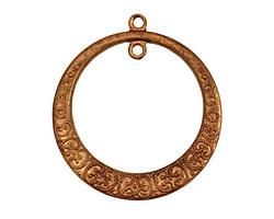 Brass Beaded Gypsy Hoop w/ Rings 28x31mm