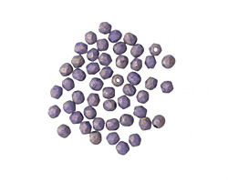 Czech Fire Polished Glass Pacifica Elderberry Round 2mm