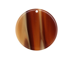 Zola Elements Brown Sugar Acetate Coin Focal 30mm