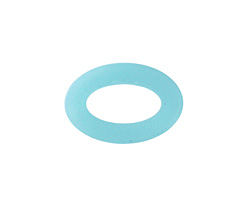 Opaque Blue Opal Recycled Glass Oval Ring 22x16mm