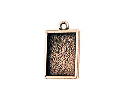 Nunn Design Antique Copper (plated) Mini Rectangle Frame Charm 18x12mm