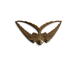 Vintaj Natural Brass Swooping Swallow Pendant 41x21mm