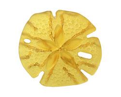 Desert Gold Recycled Glass Sand Dollar 39mm
