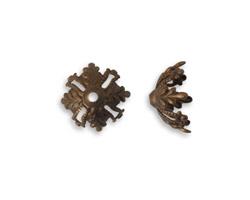 Vintaj Natural Brass Canopy Bead Cap 11.5mm