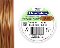 "Beadalon Satin Copper .018"" 7 Strand Wire 30ft."