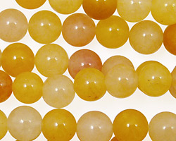 Yellow Jade (nat.) Round 8mm