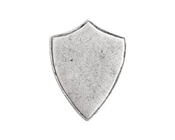Nunn Design Antique Silver (plated) Crest Shield Tag 18x23mm