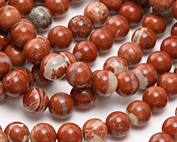 Red Bend Jasper Round 8mm