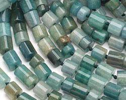 Blue Green Quartz Barrel 5-12x10mm