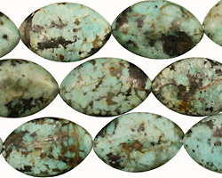 African Turquoise Horse Eye 19x12mm