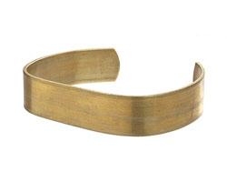 Brass Smooth Flat Narrow Cuff 60x12mm