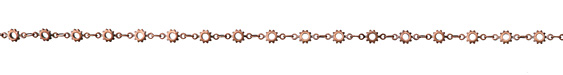 Antique Copper (plated) Cog Chain
