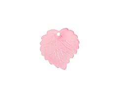 Matte Rose Lucite Ivy Leaf 16mm