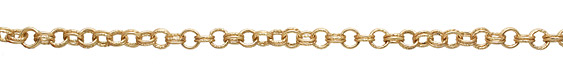 Satin Hamilton Gold (plated) Every Other Etched Link Double Cable Chain