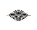 Clear Waters Mix Pave CZ Gold (plated) Eyes Focal Link 30x14mm