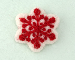 White Felt Snowflake 45mm