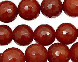 Carnelian Faceted Round 14mm