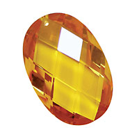 Sunshine Faceted Oval 20x30mm