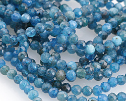 Pacific Blue Apatite Faceted Round 4mm