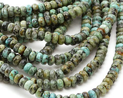 African Turquoise Rondelle 8mm